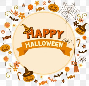 Happy Halloween Decorative Elements - Halloween Poster Clip Art PNG