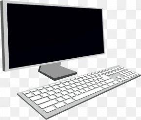Vector Computer And Keyboard - Computer Keyboard Computer Mouse Computer Monitor Desktop Computer PNG