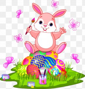 Easter Egg Bunny - Easter Bunny Easter Egg Clip Art PNG