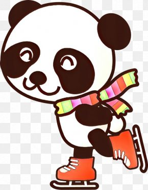 Giant Panda Santa Claus Christmas Day Vector Graphics Image PNG