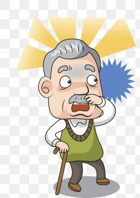 Smiling Bearded Old Man With Cane Waves Hand. Happy Grey-haired Elderly Man  Greets You. Cartoon Character Vector Stock Vector - Illustration of beard,  isolated: 106211204