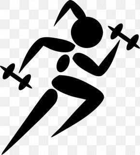 Workout - Woman Track & Field Running Clip Art PNG