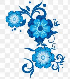 Blue Flower Vector - Flower Blue Pattern PNG