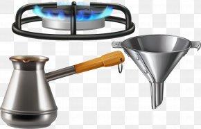 Metal Kitchen Utensils Vector Water Scoop Funnel Gas Stove - Gas Stove Kitchen Stove Gas Burner Natural Gas PNG