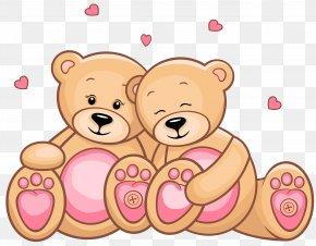 Valentines Day Teddy Couple Clipart Picture - Thanksgiving Husband Happiness Gratitude Family PNG