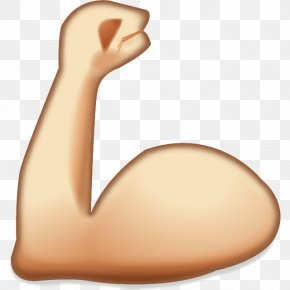 Cartoon Muscle - Emoji Muscle Sticker Arm Icon PNG