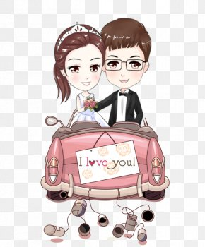 Cartoon Couple - Marriage Wedding Bride Clip Art PNG