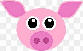 Livestock Magenta - Pink Cartoon Nose Snout Suidae PNG