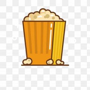 Yellow Popcorn - Popcorn Food Icon PNG
