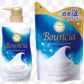 Cow Brands - Shower Gel Soap Perfume Cosmetics Gyunyu Bouncia Premium Floral Body Wash PNG