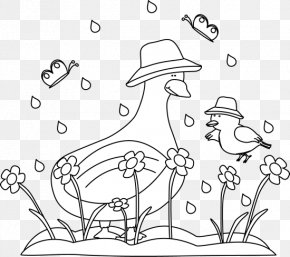 Spring Cliparts BW - Black And White Spring Clip Art PNG