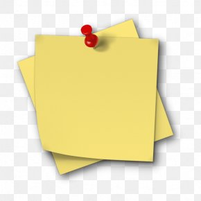 Yellow Post It - Post-it Note Paper Clip Art Sticker PNG