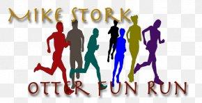 Fun Run - Public Relations Logo Human Behavior Homo Sapiens Social Group PNG