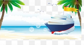 Beach Ship - Ship Computer File PNG