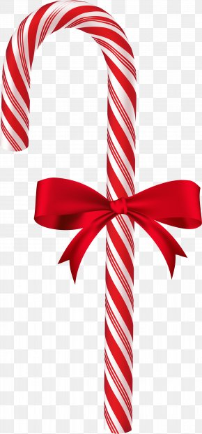 Christmas Candy - Candy Cane Red Ribbon Font PNG