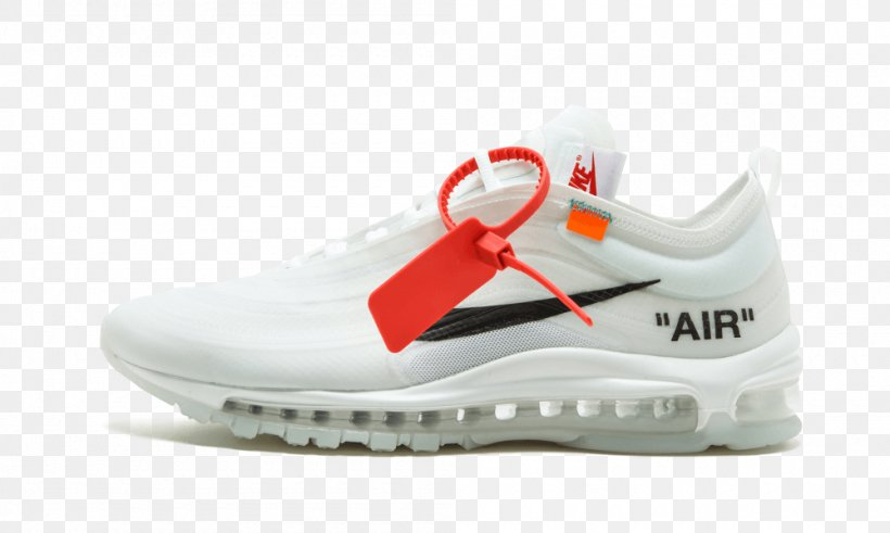 Nike OFF WHITE X Air Max 97 Mens Sneakers, PNG, 1000x600px