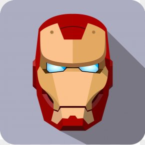 Superhero Phone Icon - Iron Man Cartoon Avatar Superhero Icon PNG