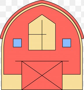 Simple Vector Red Barn - Clip Art PNG