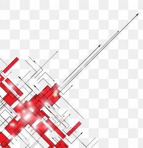 Red Light Emitting Arrow - Euclidean Vector Line Diagram PNG