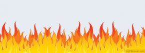 Fire Line Cliparts - Fire Flame Clip Art PNG