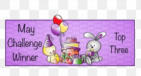 Mothers Day Glitter - Easter Bunny Hare Cartoon Illustration Greeting & Note Cards PNG