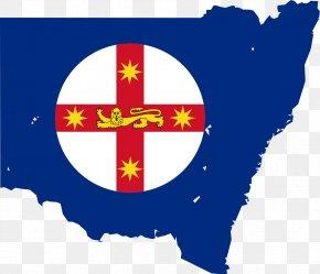 Map Vector - Flag Of New South Wales Flag Of Australia State Flag PNG