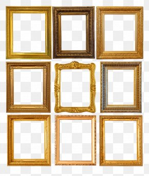 Frame Gold - Picture Frames Stock Photography Clip Art PNG