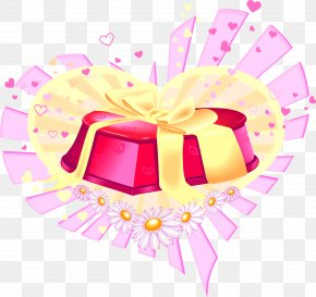Cartoon Valentine Gift Box Heart-shaped Appearance And Material - Love Gift Romance Clip Art PNG