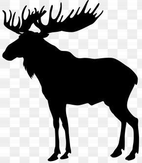 Moose Silhouette Clip Art Image - Moose Deer Elk Silhouette Clip Art PNG