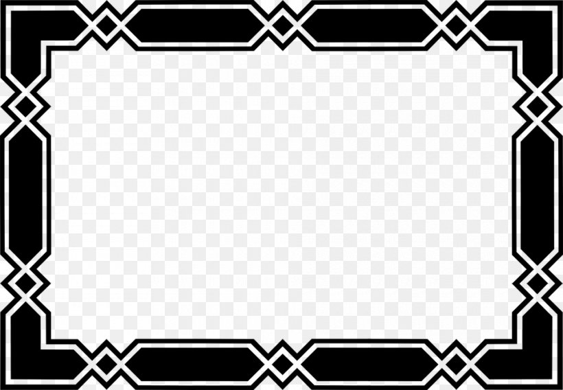 Black And White Clip Art, PNG, 960x665px, Borders And Frames, Area, Art, Black, Black And White Download Free