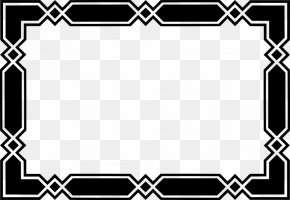 Black Border Frame Transparent Background - Black And White Clip Art PNG