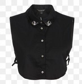 Fashion Classic Black And White Beading False Collar Shirt - Collar Chemise Shirt Blouse PNG