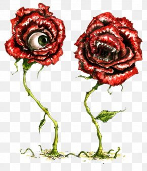 Long With The Eyes And Mouth Of The Roses - Garden Roses Eye Beach Rose Flower PNG