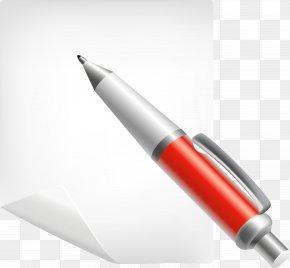 Pen Paper - Paper Ballpoint Pen Post-it Note Clip Art PNG