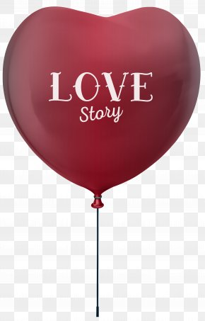 Love Story Heart Balloon Clip Art Image - Balloon Download Clip Art PNG