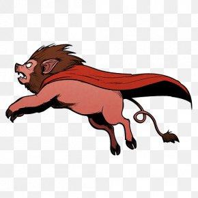 Super Lion Pig - Wildlife Big Cats Claw Carnivoran Clip Art PNG