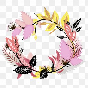 Flower Wreath - Flower Floral Design Wreath Clip Art PNG