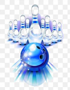 Blue Bowling - Bowling Ball Bowling Pin Download PNG