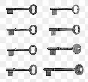 Unique Cliparts - Eight Keys Skeleton Key Clip Art PNG