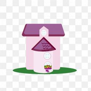Pink Cartoon House - Pink Cartoon Clip Art PNG