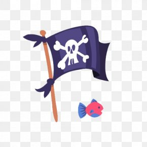 Cartoon Hand Painted Pirate Flag - Piracy Flag Jolly Roger PNG