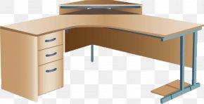 L-type Desk - Computer Desk Corner Office Armoire Desk PNG
