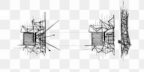 Ink Landscape Material - Drawing Architecture Line Art Sketch PNG