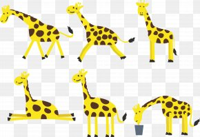 Giraffe Cartoon Vector Expression - Northern Giraffe Cartoon PNG