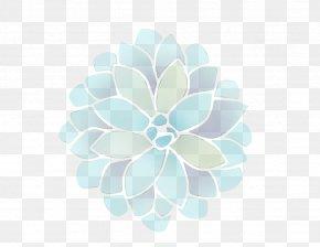 Flower Plant - Blue Turquoise Aqua Green Leaf PNG