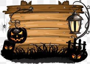 Halloween Wood Vector - Halloween Royalty-free Clip Art PNG