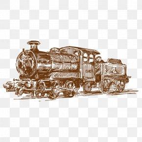 Train - Train Drawing Clip Art PNG