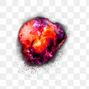 Red Atmospheric Explosion Effect Element - Explosion Clip Art PNG
