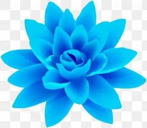 Blue Flower Gallery Yopriceville - Flower Clip Art Floral Design Blue PNG
