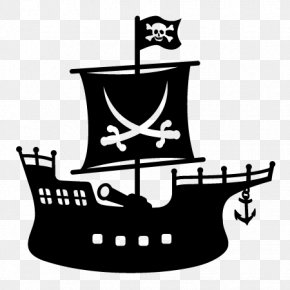 Silhouette - Piracy Silhouette Boat Clip Art PNG
